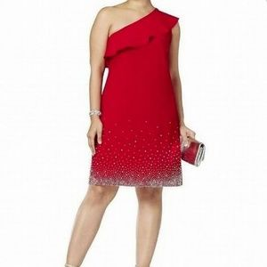 New!  MSK Red Cocktail Party Dress Plus